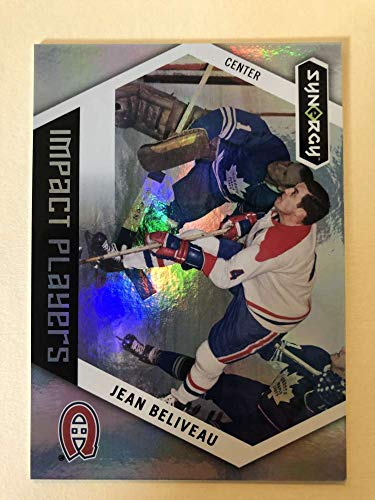 2017-18 Upper Deck Synergy Impact Players #IP-48 Jean Beliveau Montreal Canadiens Official UD Hockey Trading Card