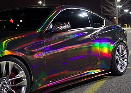 3d Holographic cromato Black Rainbow per Car Wrapping, Pellicola a Specchio, effetto schermo speedwerk-motorwear