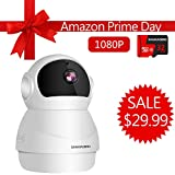Home Security Camera 1080P, Include 32GB Card FHD Wireless IP Pan/Tilt/Zoom Cam,WiFi Surveillance Dome Cameras,Two-Way Audio,Motion Detection