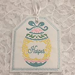 Personalized easter gift tags lets personalize that easter basket personalized embroidered gift tag easter basket gift tag embroidered gift tag negle Images