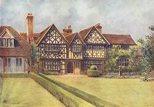 Great Tangley Manor WONERSH Surrey 1914 old antique vintage print picture
