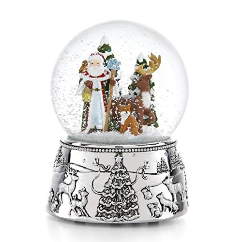 Reed & Barton 886531 Vintage Santa Musical Snowglobe