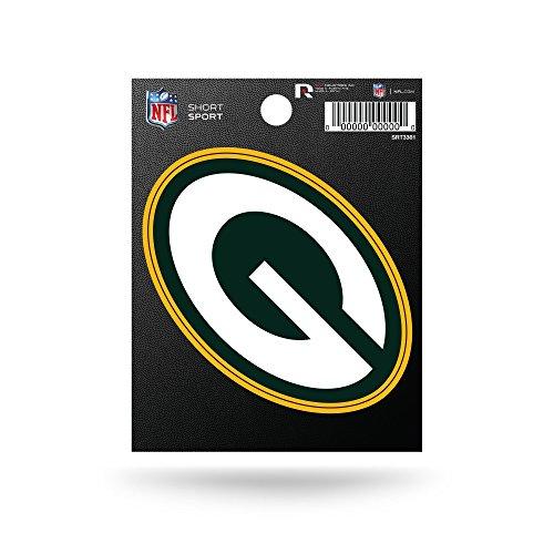Rico Industries NFL Green Bay Packers Die Cut Team Logo Short Sport Sticker