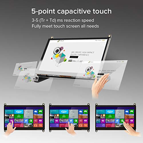 7 Inch Touch Screen Monitor, Eviciv Portable IPS Display