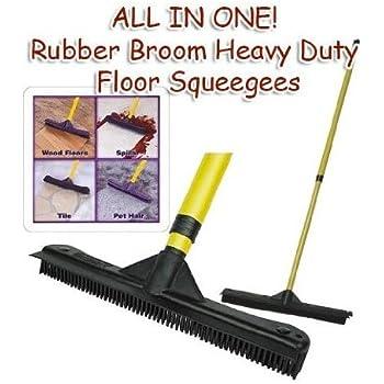 Amazon Com All In One Rubber Broom Heavy Duty Floor