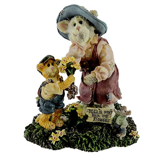 Boyds Bears Resin Momma Meowsler And Hank Purrstone Cat Special Edition - Resin 4.25 IN