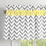 Carousel Designs Gray and Yellow Zig Zag Window Valance Rod Pocket