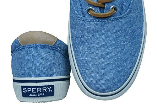 Sperry Top-Sider Men's Striper Ll CVO Linen Trainers Blue fast delivery for sale VhNKC