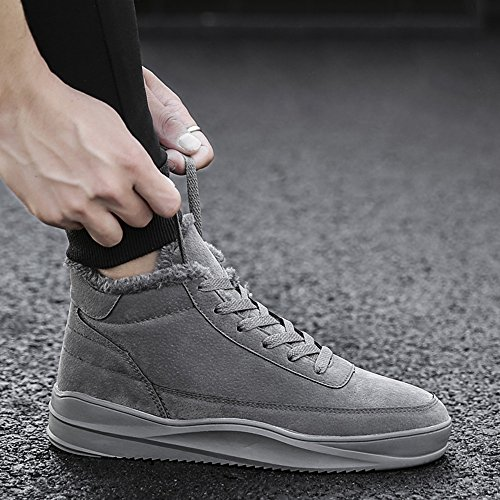 Winter UK9 High Colors Sports Warm Materials High 3 Gray CN44 Keep Help Leisure Quality Slip Men's Size and Shoes Color Plate Non Shoes Feifei EU43 fPqgw74X