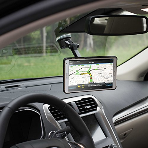 Dashboard Mount, WizGear Universal Magnetic Car Mount Holder, Windshield Mount and Dashboard Mount Holder for Cell Phones AND TABLETS With Long Adjustable Arm – (NEW RECTANGLE HEAD)