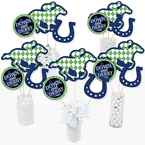 Kentucky Horse Derby - Horse Race Party Centerpiece Sticks - Table Toppers - Set of 15]()