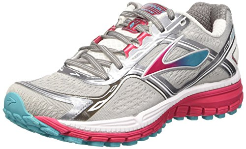 Brooks Women's Ghost 8 Metallic Charcoal/Bright Rose/Bluebird Sneaker 8.5 B (M)