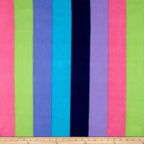 Polar Fleece Stripe Multi Fabric The Yard