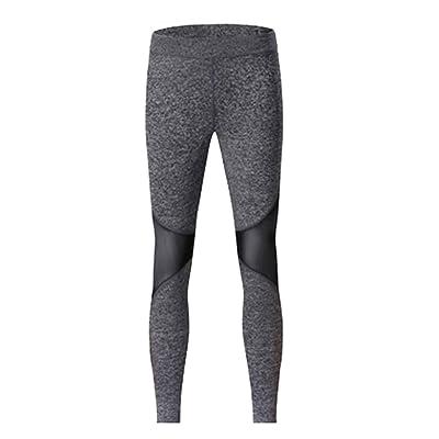 Baoblaze Pantalon de Yoga Sports Gym Fitness Jogging Legging Élastique  Respirante Confortable pour Femme 1fbbe8d066dc