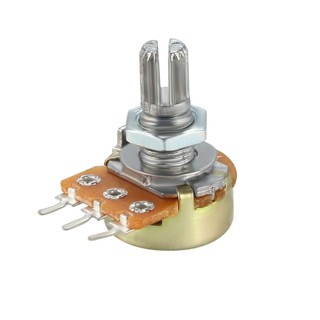 uxcell WH148 Potentiometer Variable Resistors Single Turn Rotary Carbon Film 18pcs 1K,2K 5K 10K 20K 50K 100K 500K 1M Ohm Each 2pcs