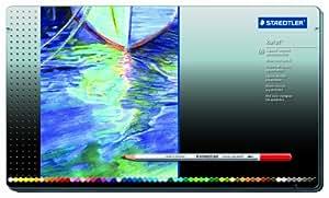 Staedtler Karat Aquarell Premium Watercolor Pencils, Set of 60 Colors (125M60)