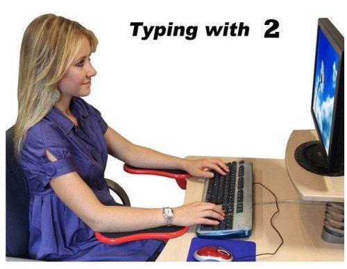 Arm Rest Extenders : Ergonomic adjustable computer desk extender arm wrist
