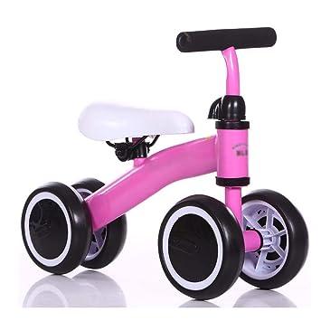 TONGSH Bicicletas de Equilibrio para bebés, Bicicletas Mini Bicicletas, Juguetes para Caminantes de niños Paseos por 12-36 Meses Sin Pedales Bebé 4 Ruedas ...