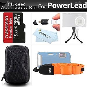 16GB Accessories Bundle Kit For PowerLead BP88, Gapo G051, Gapo G050 Double Screens Waterproof Digital Camera Includes 16GB High Speed Micro SD Memory Card + Case + FLOAT STRAP + Mini Tripod + More