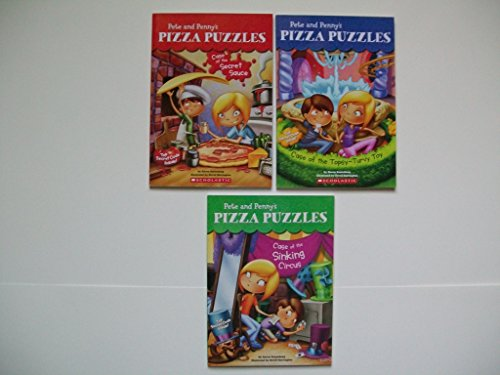 Pete and Penny's Pizza Puzzles (Set of 3) Secret Sauce; Topsy-Turvy Toy; Sinking Circus (Turvy Circus Topsy)