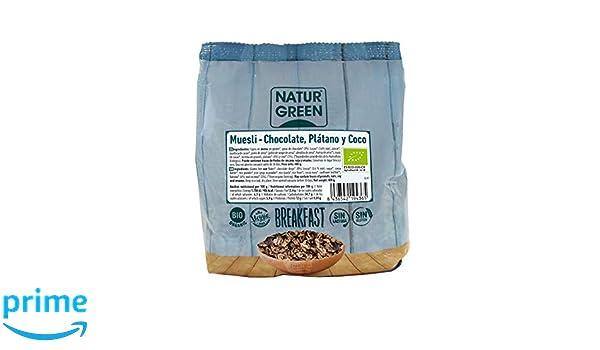 NaturGreen Muesli Choco Banana Coco Sin Gluten Bio 400g - Pack de 6 unidades de 400 gr: Amazon.es: Alimentación y bebidas