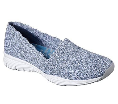 Skechers Para Mujer, Seager Stat Slip On Zapatos Azul Claro