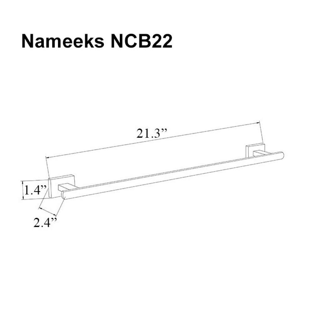 Nameeks NCB22 Towel Bar One Size Chrome