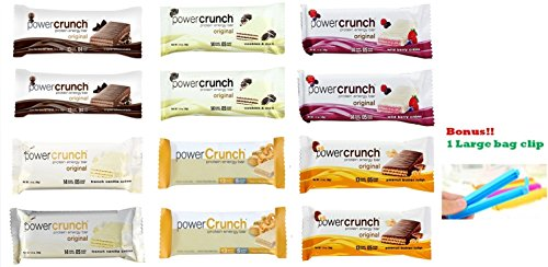 Power Crunch Protein Energy Bar Variety 6 Flavors 12 ()