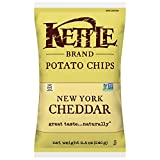 Kettle Brand Potato Chips, New York Cheddar, 8.5 Ounce Bags (Pack of 12)
