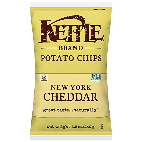Kettle Brand Potato Chips, New York Cheddar, 8.5 Ounce