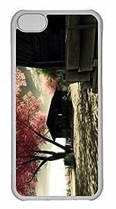 iPhone 5C Case, Personalized Custom Sakura01 for iPhone 5C PC Clear Case