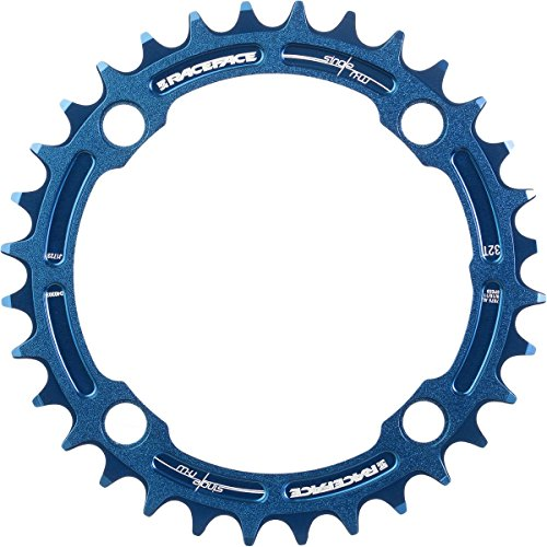 Race Track Ring - RaceFace 104mm Single Chain Ring, Blue, 30T 9/10/11 Speed