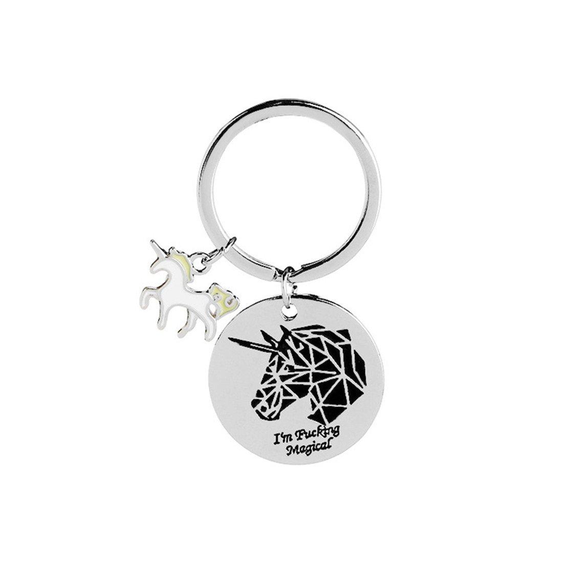 VWH Women Unicorn Keychain Pendant Mother's Day Gift