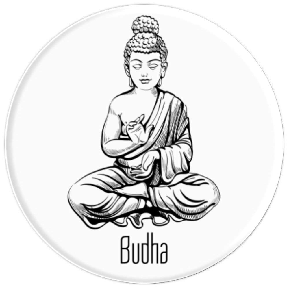 Amazon com buddha spiritual art drawing meditation gift popsockets grip and stand for phones and tablets cell phones accessories