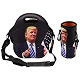 Donald Trump Make America Great Again Lunch Bag with Water Bottle Tote