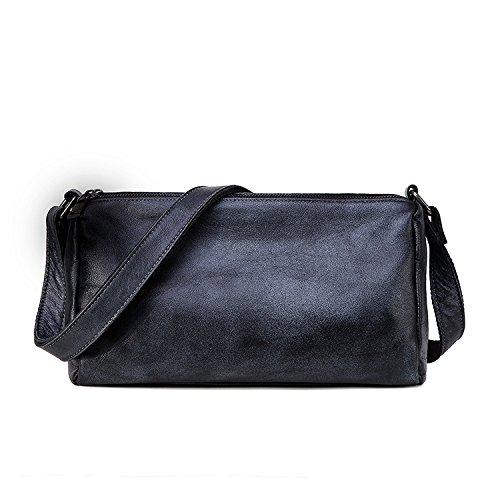 GUANGMING77 Unica Borsa A Tracolla _ Borsa A Tracolla Messenger Bag Sacca Borsa Piccola Spazzola Color,Kaki Iron gray