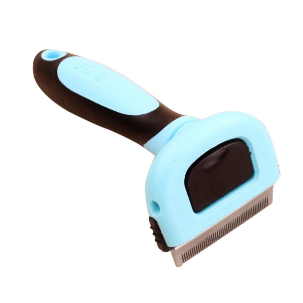 Pet Grooming cepillo Deshedding retiro de herramienta peine para perro gato pequeñ os animales (azul) UEETEK