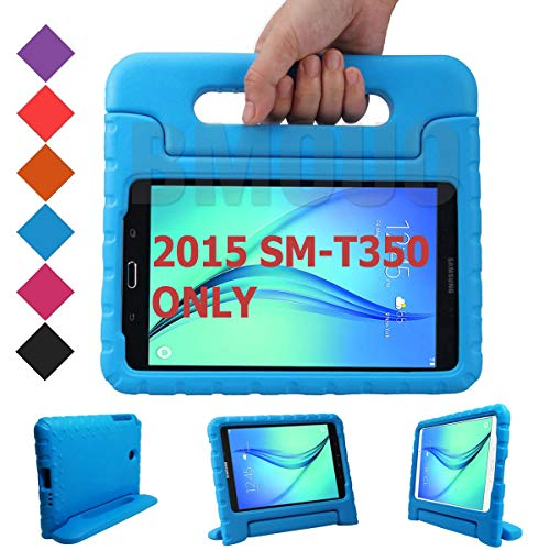 BMOUO Kids Case for Samsung Galaxy Tab A 8.0 (2015) SM-T350 - Shockproof Case Light Weight Kids Case Super Protection Cover Handle Stand Case for Kids Children for Samsung TabA 8-inch Tablet - Blue (Samsung 8 Inch Case Tab Galaxy)