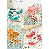 Sirdar Baby Shoes Knitting Pattern 4527 DK