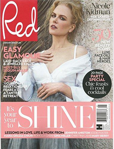 RED UK MAGAZINE IT'S YOUR YEAR TO SHINE. NICOLE KIDMAN JANUARY, - Flat Rate Priority International Mail