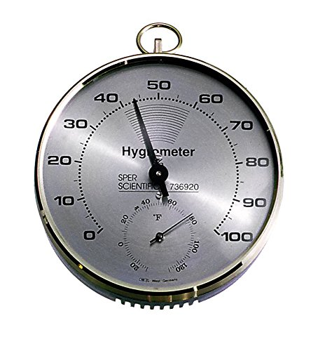 Hair Hygrometer (Sper Scientific 736920 Lab or Classroom Hygrometer/Thermometer)