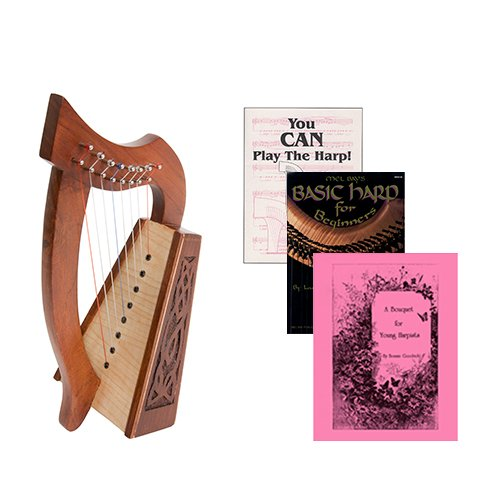 Homeschool Music Lily Harp w/Introduction to Harp Book Bundle + A Bouquet for Young Harpists by Homeschooling Harps