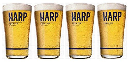 Harp Lager Midland Glasses Set of 4 ()