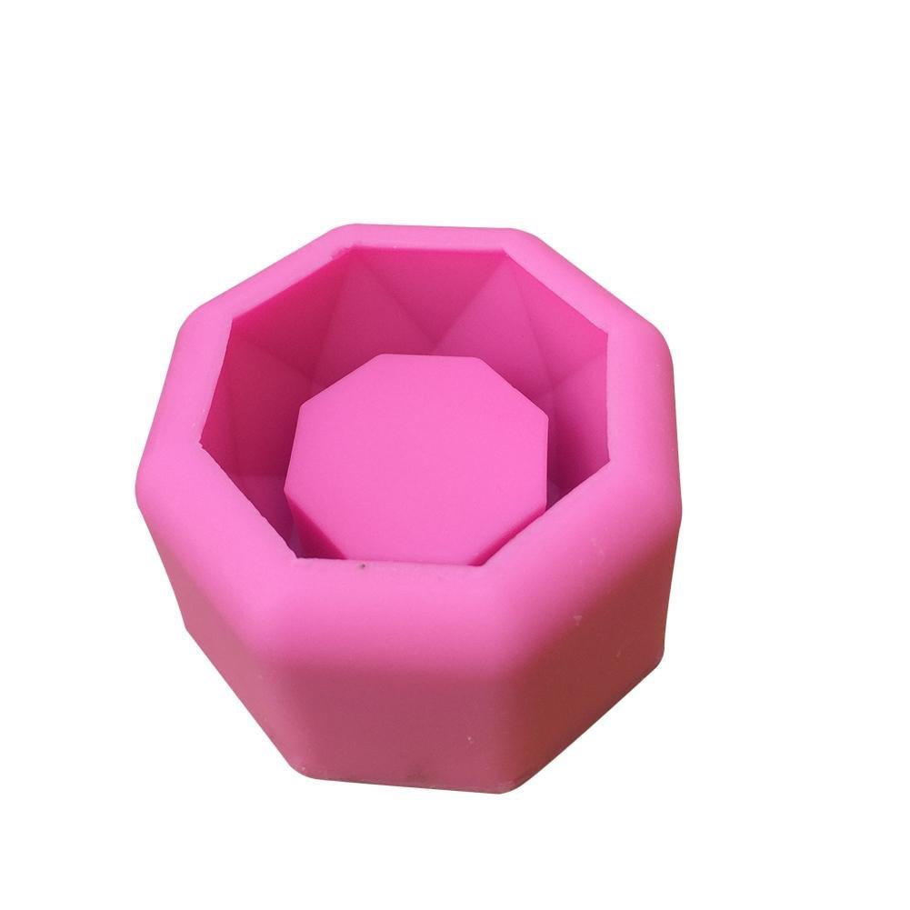 DIY Flower Pot Silicone Mold Succulent Plants Concrete Planter Vase Molds Candle Holders Mold Color Random (Heart Shape) aneil