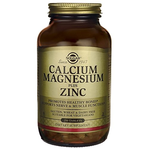 Solgar Calcio Magnesio y Zinc - 250 Tabletas: Amazon.es: Salud y cuidado personal