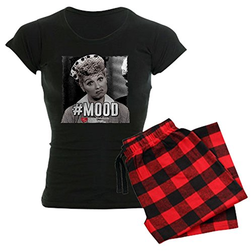 (CafePress I Love Lucy #Mood Womens Novelty Cotton Pajama Set, Comfortable PJ Sleepwear )