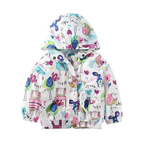Assistant Hooded Sweatshirt (Mud Kingdom Little Girls Zip Up Hoodie Size 5 Cute Animal Pattern White)