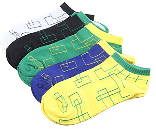 ふつうペネロペ不正確5ショートソックスコットンソックス男性靴下スポーツソックス迷路のセット