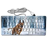 hp 2000 notebook stickers - Mini Keyboard,Wired Thin Light 78 Keys USB For Pc Computer Laptop,Unique Design Dog