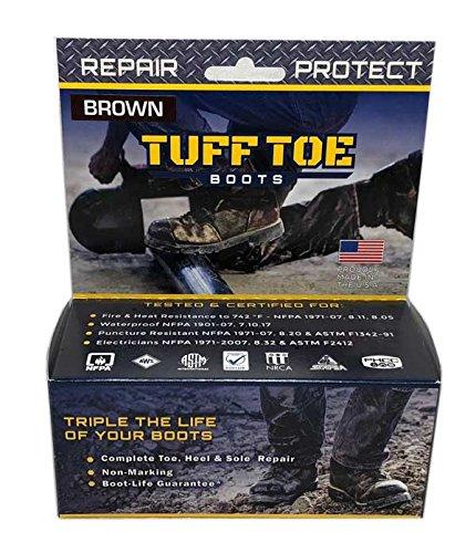 Tuff Toe Polyurethane Work Boot & Shoe Protector/Guard Waterproof - Brown (Protectors Shoe Boot)